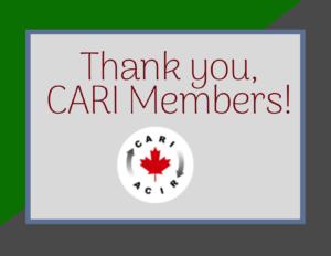 CARI Member Thank you